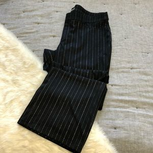 Maurices ponte knit silver stripe work pant 18long